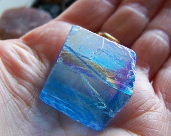 Aqua Aura Optical Calcite Iceland Spar Viking Sunstone