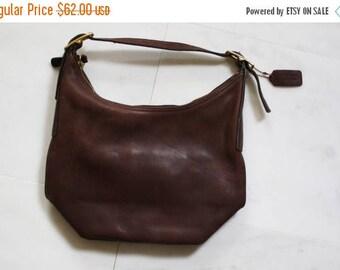 On SALE 35% Off - Vintage Coach Leather Purse  - Coach Purse  - 1970s Coach Bag - Leather Shoulder Bag -  Brown Leather Bag - WA0049