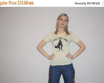 On SALE 35% Off - Vintage 70s Paper Thin Rustic Western Screen Stars Ohio T Shirt - Vintage 1970s Cowboy Tee - 70s Tops - W00473