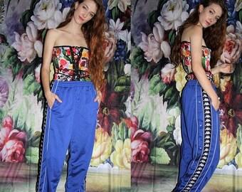 On SALE 35% Off - Vintage 90s Kappa Blue Minimalist Hip Hop Athletic  Tear Away Track Pants - 1990s Kappa Workout Pants - 1990s Sweat Pants