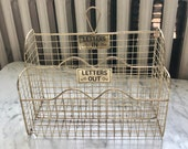 Gold Wire Mail Letter In and Out Sorter Mailbox Wall Mount