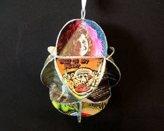 Janis Joplin Album Cover Ornament Made Of Repurposed Record Jackets