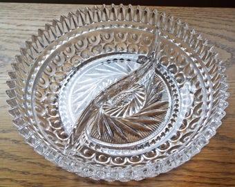 Stunning Divided Crystal Dish
