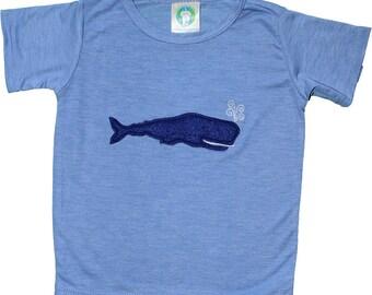 blue whale  heather blue tee!