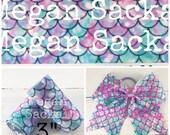 "3yd- 3"" Ribbon,  Cheer Bow Ribbon, Mermaid Ribbon, Aqua and Lavender Marble Mermaid"