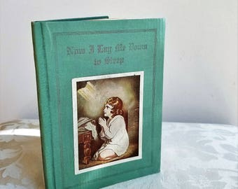 """Vintage Prayer Book """"Now I Lay Me Down To Sleep"""" By Concordia Publishing 1933 Hardcover, Christian Religious"""