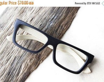 20% off SUMMER SALE black two tone handmade bamboo   glasses  and wood box TAKE by Takemoto  Mjx1202