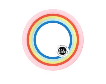 Party Plates | Double Rainbow | 10 small plates per pack