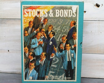 1964 Stocks and Bonds Board Game, The Game of Investments, Minnesota Mining and Manufacturing Company Game, 3M Bookshelf Game