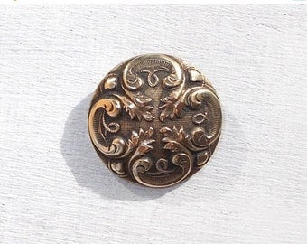 SALE 10% OFF Gorgeous Antique French Bronze Button, Cleaned and ready to use.  mid 1800's Coat Button. Several available.  (3623)