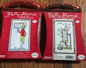 Janlynn Dolly Mamas Counted Cross Stitch Kits Merry Catmas Christmas