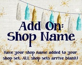 Shop Name Add On - Add Your Shop Name to set - Facebook Timeline, Etsy Shop Banner, Premade Etsy Graphics, Business Card