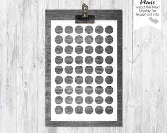 13mm Circles | 4x6 sheet | PNG file | Instant Download