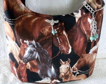 Western Purse With Turquoise Charm, southwestern clothing southwest clothing western clothing cowgirl horse handbag southwestern purse