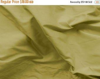 CIJ SALE Dupioni Silk Fabric - Olive - 100% Silk - SLDP44