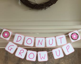 Donut Birthday Banner - Donut Birthday Party Decor - Donut Party Banner - Sprinkle Donut Banner - Donut Party Decorations
