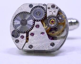 Rectangular Russian Cufflinks lovely set of watch movement cufflinks , ideal gift for a wedding, anniversary or birthday 73
