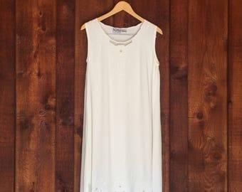 Vintage White Bali Cutout Tunic Dress
