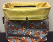 Custom Reversible Fox/Chevron Project Bag for Alanna