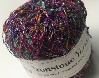 Ironstone Yarns Paris Nights 36 pink purple green 1 ball embroidery weaving thread