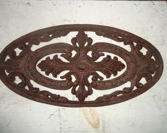 Vintage Salvaged Decorative Cast Iron Architectural Piece