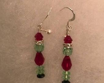Grinch Christmas Earrings