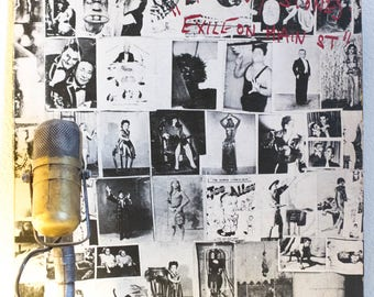 """ON SALE The Rolling Stones Vinyl Record Album 1970s Sleazy Blues British Rock 2LP """"Exile On Main St.""""(1973 Rs records - 2nd issue)"""