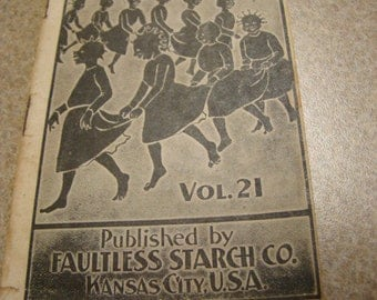 Faultless Starch Co. Ten Little Pickaninnies Booklet Story Advertising Black Americana Early 1900s