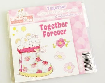 Strawberry Kisses - TOGETHER FOREVER Stamp Set  (Crafters Companion) Cat and Dog in boot
