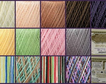 Bernat Handicrafter Crochet Thread Yarn Lace Weight Size 5 Acrylic Select Color 3oz Solids 2.8oz Multi's