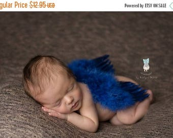 ON SALE Navy Feather Wings, Baby Wings, Baby Boy Prop, Newborn Photo Prop, Photography Prop, Wings
