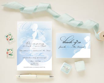 Disney bridal shower invitations, princess bridal shower, fairy tale invitations