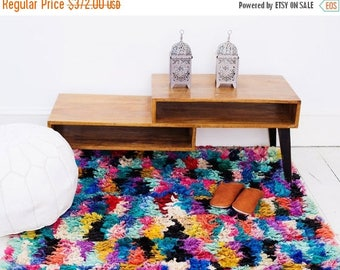 10% OFF Summer SALE // FREE Shipping, Trendy finds, Large Multi colour Berber carpet, Moroccan Rug, Boucherouite Rug,Vintage, Moroccan Carpe