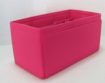 Ready to Ship .. Neverfull MM Snug Fit 12x6x6. w/bottle pocket & iPad Pocket....Purse Insert ORGANIZER Purse Shaper ...Hot Pink..(24C)