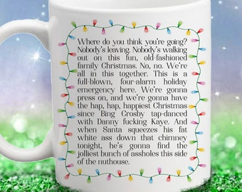Christmas Vacation Movie Inspired - Clark Rant - Color Accent Mug - 11oz or 15oz