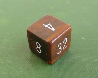Bakelite Backgammon Doubling Cube - Vintage Marbled Brown