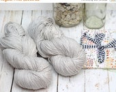SALE Hand Dyed Knitting yarn Milk Cotton handdyed Mushroom in KESSIE, pearl gray