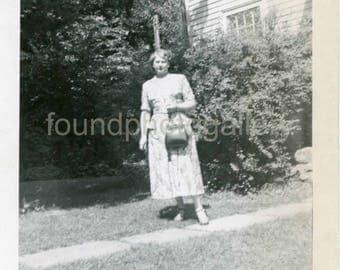 Vintage Photo, Photo of a Woman in Sandwich Massachusetts, 1950's Photo, Black & White Photo, Photo, Snapshot, Old Photo