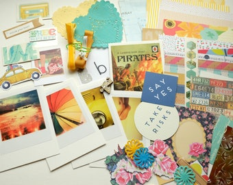Surf & Sand  CRAFTY BITS - crafting kit with papers and embellishments