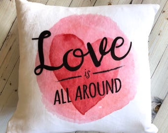 soft decorative pillows. Romantic Gift  Valentines Day Pillow Cover Valentine for Wife Love Is All Decorative Pillows Throw Shams Monogram by CompanyTwentySix
