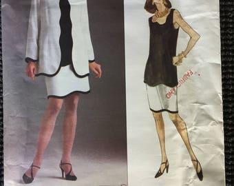 Vogue 1140 Misses Jacket Skirt Top Sewing Pattern Anne Klein Size 14-18 UNCUT