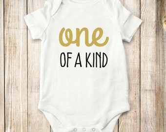 ON SALE One of Kind, onesie, bodysuit, shirt, children, baby, clothing, tops