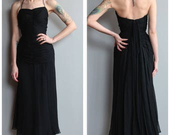 1950s Dress // Silk Chiffon Mr. Blackwell Gown // vintage 50s designer dress