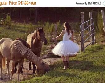 Summer sale White Tutu - Woman tutu - Adult Tutu - Ladies Tutu - SEWN tutu- Teen Tutu - tutu skirt - tulle skirt - cowgirl tutu -
