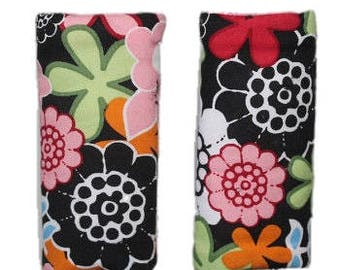 Car seat strap covers, padded strap covers, reversible strap covers, girl Car Seat Strap Covers, floral strap covers- Ships today