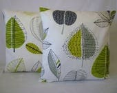 "RESERVED PAIR Cushion Pillow Covers Lime Green Mix Match Designer Decorative Pillows Shams Slips PAIR 16"" (40cm)"