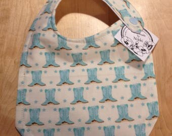Baby Bibs- Blue Boots