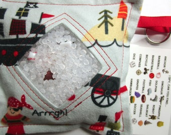 I Spy Bag Game, Pirates, Boys contents, car vacation travel toy, Eye Spy Game, seek and find, sensory occupational therapy, busy bag, gift
