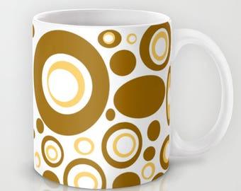 Modern Mug, Retro Mug, Retro Kitchen, Groovy Mug, Mid Century Modern Mug, Cool Mug, Retro Ceramic Mug, Retro Coffee Mug, Cool Coffee Mug