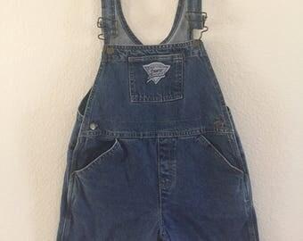 Vintage Girls Guess Denim Overalls - Size 6x/7 - Cotton - Shortalls